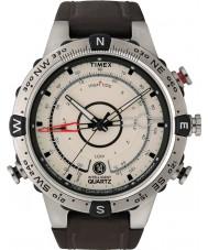 Timex T2N721 Mens temperatura maré natural marrom bússola relógio