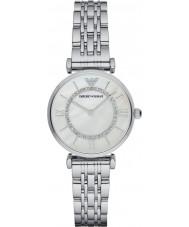Emporio Armani AR1908 Senhoras prata ligação banhado relógio de vestido pulseira