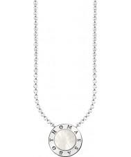 Thomas Sabo KE1492-029-14-L45v Senhoras prata assinatura clássico colar de madrepérola