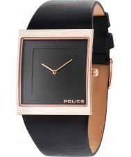 Police 14694MSR-02 Mens skyline x couro preto relógio pulseira