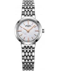 Rotary LB05060-07 Senhoras relógios de Canterbury prata relógio pulseira de aço