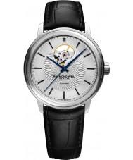 Raymond Weil 2227-STC-65001 Mens maestro pulseira de relógio de couro preto