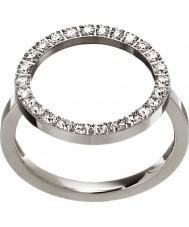 Edblad 3151441907-S Ladies brilhar anel de aço de prata - tamanho n (s)