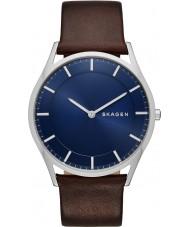 Skagen SKW6237 Mens Holst escura de couro marrom pulseira de relógio