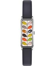 Orla Kiely OK2131 Ladies tronco marinha pulseira de couro relógio