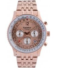Krug-Baumen 400603DS diamante viajante Air subiu de marcação ouro rosa pulseira de ouro