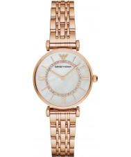 Emporio Armani AR1909 Senhoras rosa banhado a ouro relógio pulseira link vestido