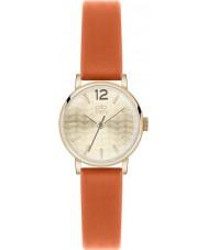 Orla Kiely OK2016 Ladies frankie laranja relógio com pulseira de couro
