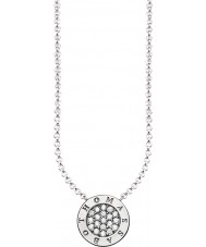 Thomas Sabo KE1493-051-14-L45v Ladies assinatura prata zircônia clássico colar de pave