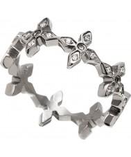 Edblad 31630055-M Ladies Windsor anel de aço de prata - tamanho P (m)
