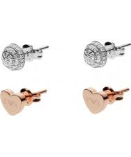 Emporio Armani EG3327040 Ladies Stelle prata e rosa brincos conjunto de ouro
