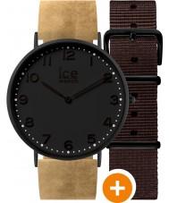 Ice-Watch 001360 Ice-cidade relógio exclusivo com couro bege e cintas de nylon marrom