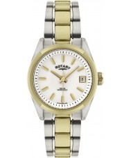 Rotary LB02661-11 Senhoras relógios havana dois tons relógio de ouro