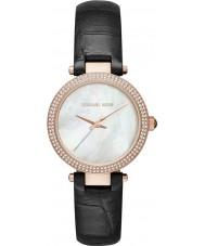 Michael Kors MK2591 Senhoras mini-parker de couro preto relógio pulseira