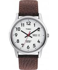 Timex T20041 Brown dos homens do relógio leitor fácil branco