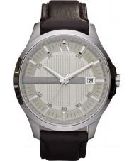 Armani Exchange AX2100 Darkwatch vestido de alça de couro marrom masculina