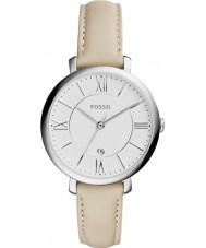 Fossil ES3793 Ladies creme Jacqueline relógio com pulseira de couro