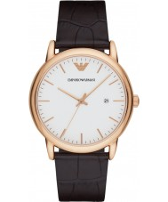 Emporio Armani AR2502 Mens clássico escura de couro marrom pulseira de relógio