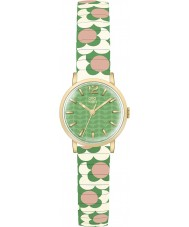 Orla Kiely OK4042 Ladies flor pop creme verde rosa expandindo relógio pulseira