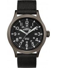Timex TW4B06900 Mens tecido preto olheiro pulseira de relógio