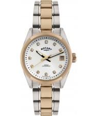 Rotary LB02662-02 Senhoras relógios havana dois tons rosa relógio de ouro