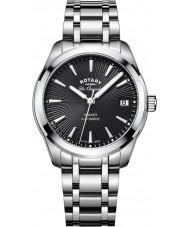 Rotary LB90165-04 Senhoras relógios legado de aço de prata pulseira de relógio
