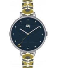 Orla Kiely OK2135 Ladies hera creme pulseira de couro relógio