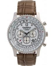 Krug-Baumen 600501DS Mens viajante ar relógio de diamantes