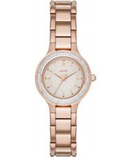 DKNY NY2393 câmaras senhoras ouro rosa relógio banhado