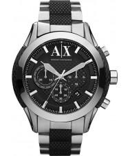 Armani Exchange AX1214 preto prata relógio desportivo cronógrafo dos homens