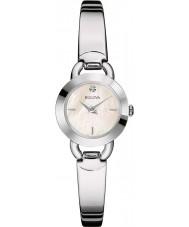 Bulova 96P154 Senhoras diamantes prata relógio da pulseira