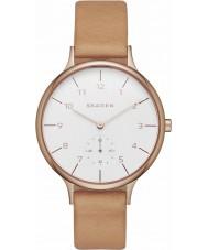 Skagen SKW2405 Ladies Anita marrom relógio de pulseira de couro