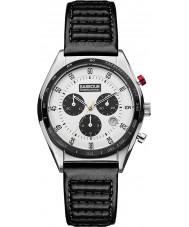 Barbour BB025WHBK Mens boswell cronógrafo relógio de couro preto