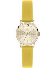 Orla Kiely OK2020 Ladies frankie couro amarelo pulseira de relógio