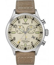 Timex TW2P84200 Homens Waterbury tan couro relógio pulseira de cronógrafo