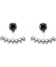 Thomas Sabo H1907-698-11 Senhoras crânio e preto brincos de ônix