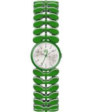 Orla Kiely OK4048 Senhoras laurel aço verde pulseira de relógio