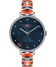 Orla Kiely OK2137 Ladies hera creme pulseira de couro relógio