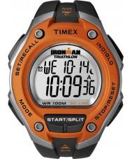 Timex T5K529 Mens laranja ironman preto de 30 voltas relógio do esporte oversize
