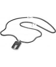 Police 25492PSB-01 Homens de aço colar de prata híbrido