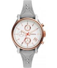 Fossil ES4045 As senhoras originais namorado relógio cinzento cronógrafo