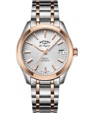 Rotary LB90167-06 Senhoras relógios legado dois tons pulseira de aço relógio