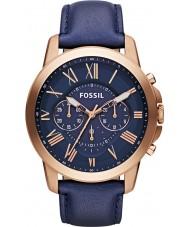 Fossil FS4835 Mens conceder cronógrafo marinha relógio