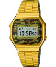 Casio A168WEGC-5EF Mens ouro retro coleção de relógios banhados