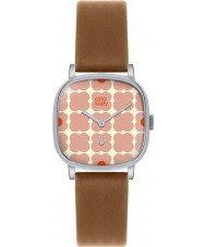 Orla Kiely OK2023 Senhoras cecelia tan couro relógio pulseira