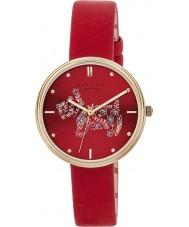 Radley RY2336 Ladies jardins alecrim couro escarlate relógio pulseira