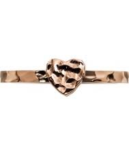 Edblad 3153441960-XL Senhoras pequeno coração rosa banhado a ouro anel - tamanho s (XL)