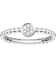 Thomas Sabo D-TR0004-725-14-54 Ladies ENCANTO e alma 925 prata esterlina anel de diamante - tamanho O (UE 54)