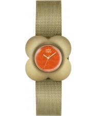 Orla Kiely OK4050 Ladies poppy banhado a ouro pulseira relógio