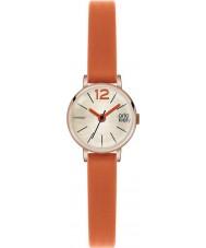 Orla Kiely OK2024 Ladies frankie laranja relógio com pulseira de couro